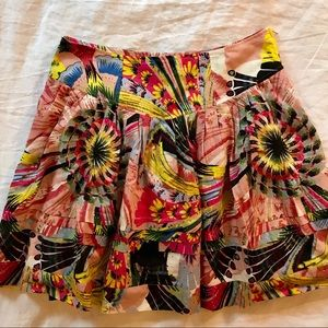 Anthropologie Leifsdottir Pink Ruffle Skirt NWOT